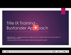 Title IX Bystander Training Video