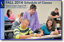 Schedule of Classes - Fall 2014