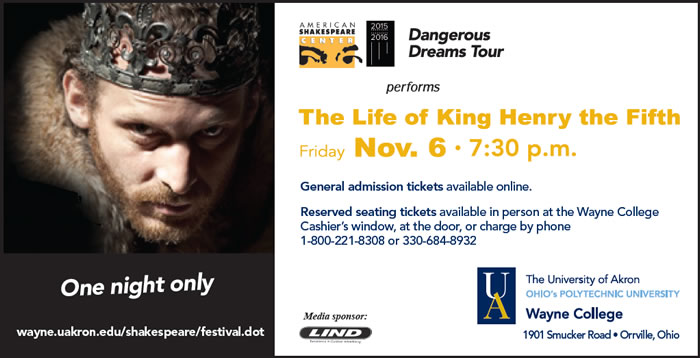 Henry V - Nov. 6. 2015 at 7:30 pm