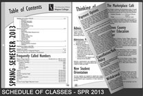 Schedule of Classes - Spring 2013