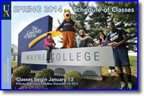Schedule of Classes - Spring 2014