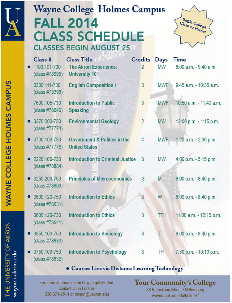 Fall 2014 Classes