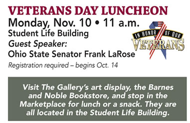 Veterans Day Luncheon Nov. 10 11 a.m.