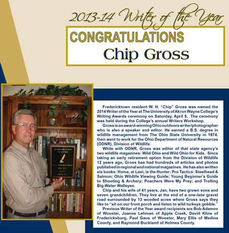 2013-14 Writer of the Year - Chip Gross
