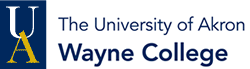 The University of Akron Wayne College Logo